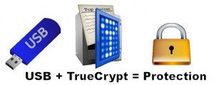 USB + TrueCrypt = Protection
