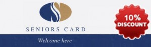 10% discount for Seniors Cards holders